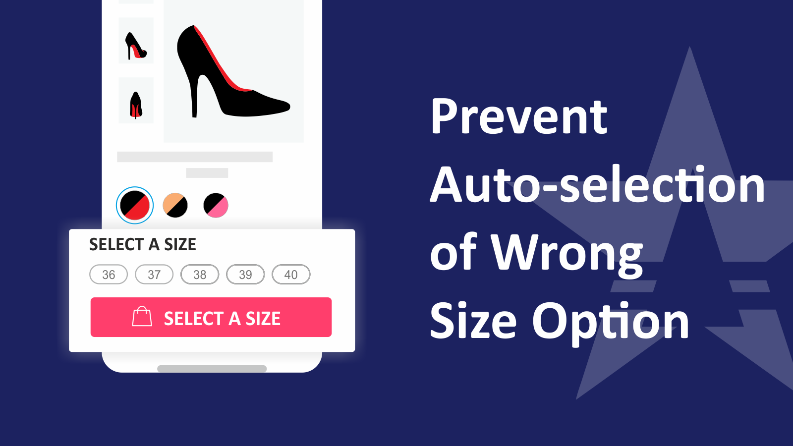 Prevent Auto Selection Of Size - Shopify - wrong size order