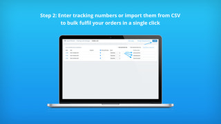 Enter tracking numbers or import them from CSV in bulk
