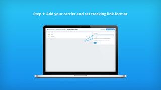 Add your carrier and set track link format for bulk fulfillment