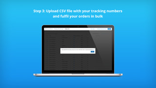Upload CSV with your track links for bulk fulfillment