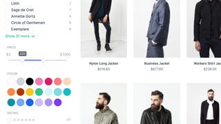 Advanced filtering and beautiful product listings