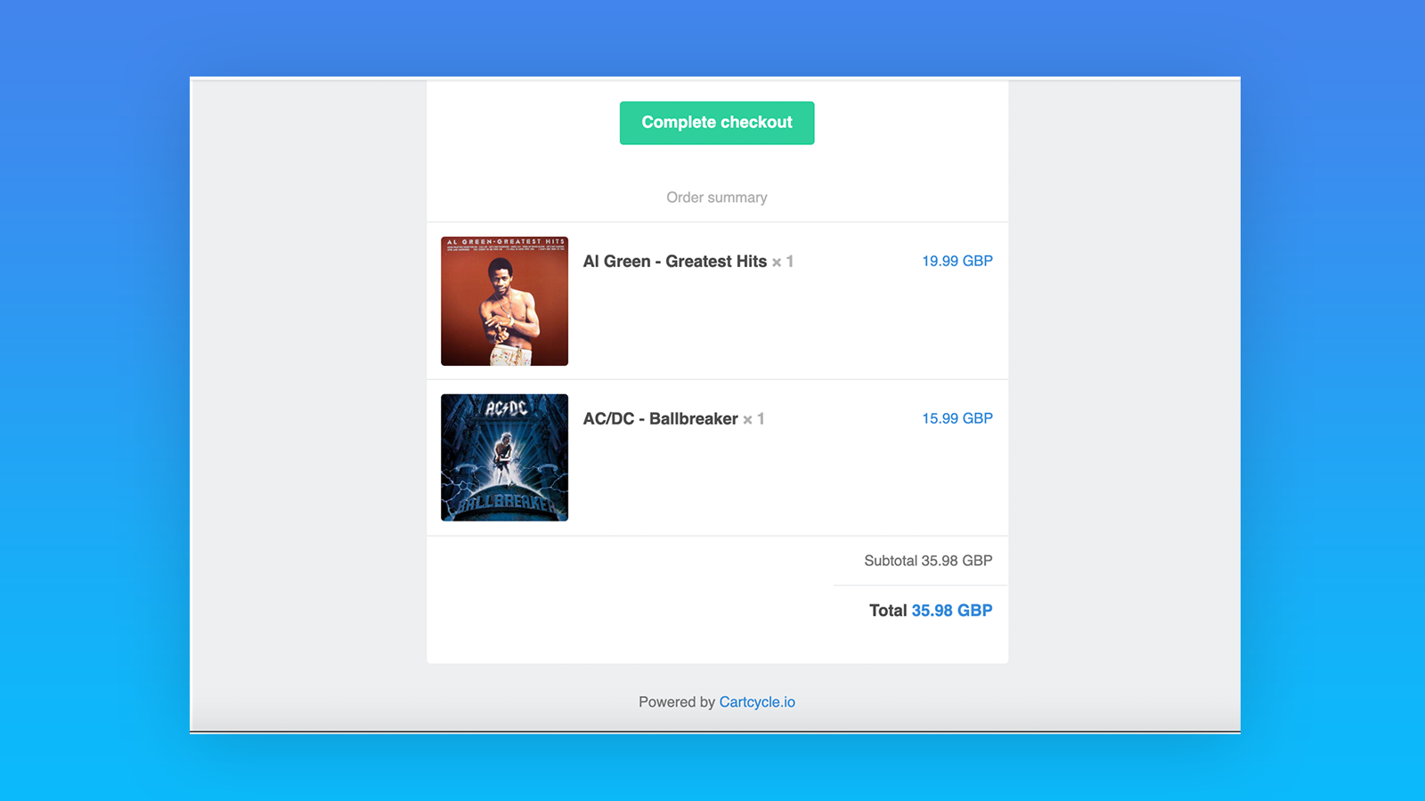 Conversion focussed, responsive emails with customisable copy