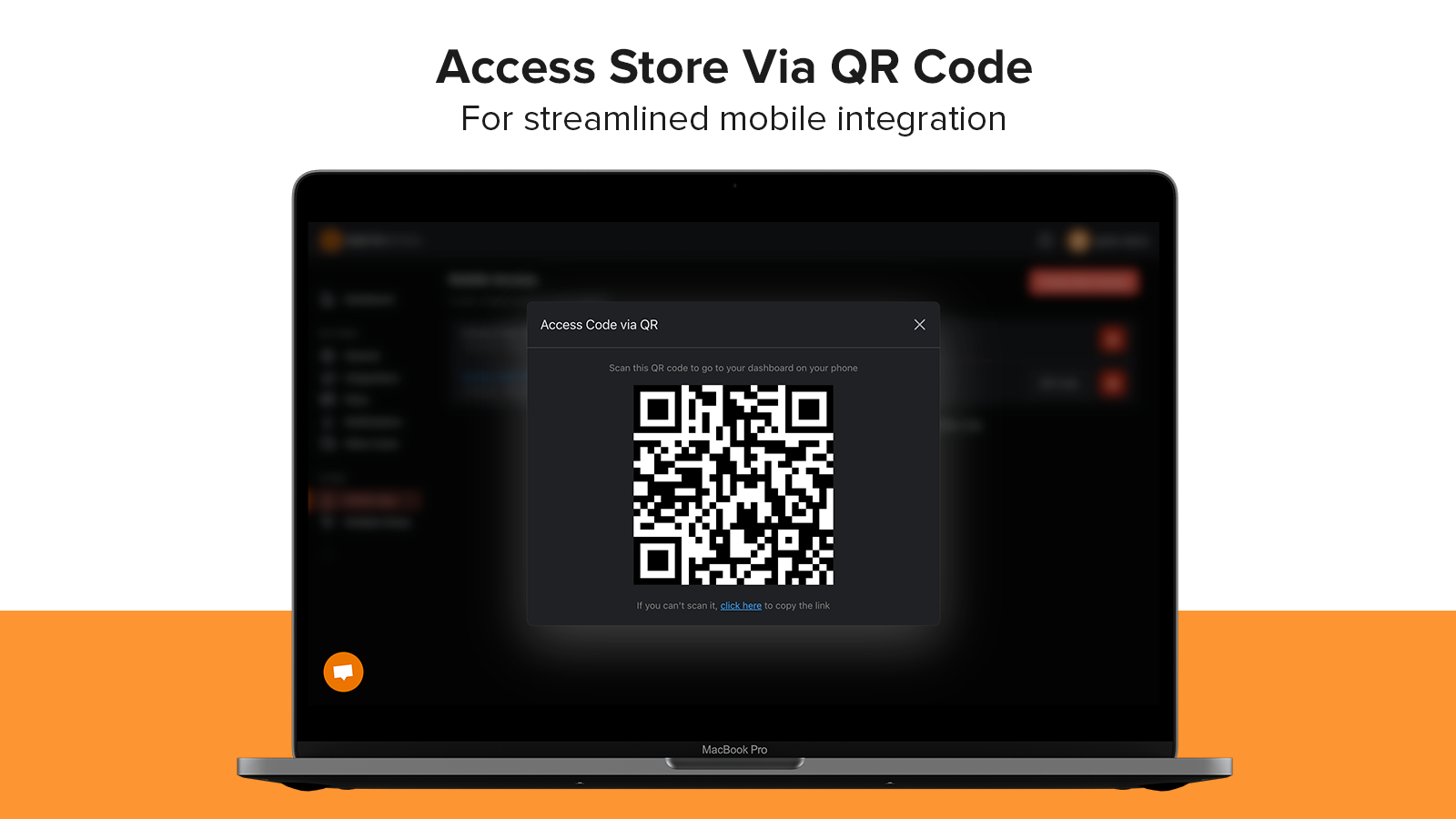 Going to mobile is a hassle? Scan a QR code and you're done!
