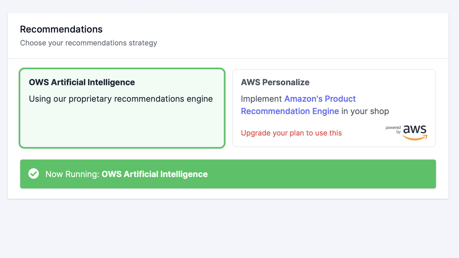 AWS Recommendations