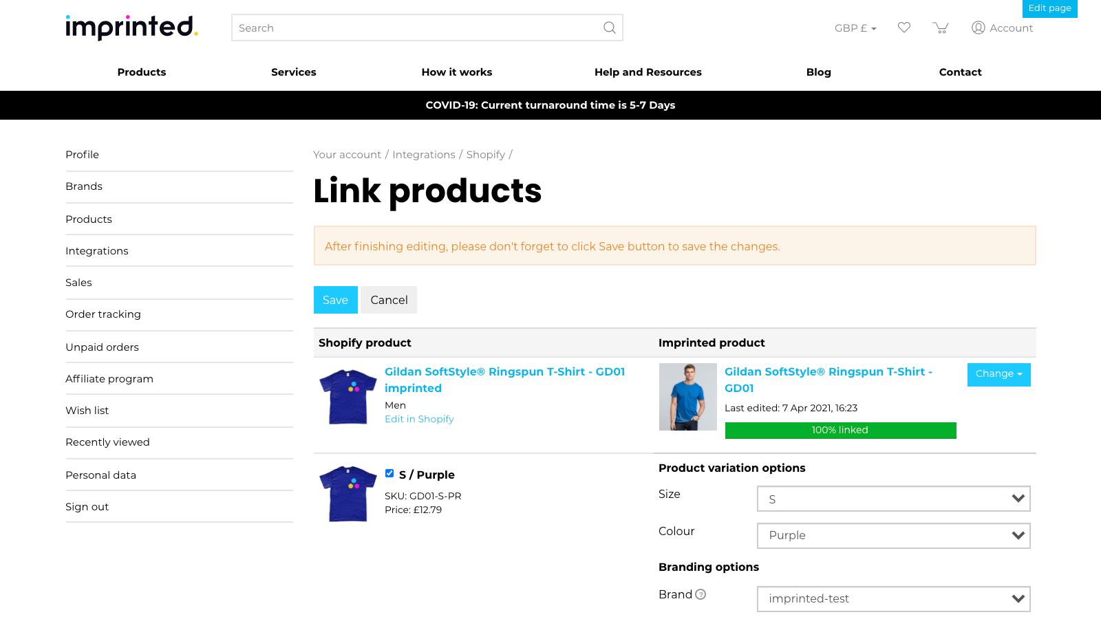 Link product