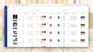 Product listing dashboard