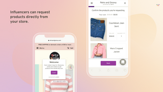 Influencers can request products directly from your store.