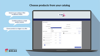 Choose products from your catalog.