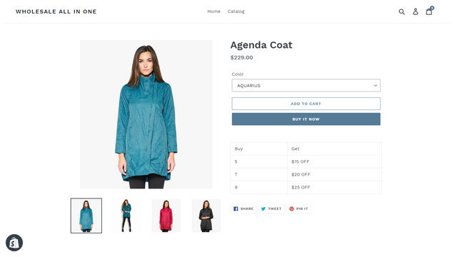 Product detail page discount