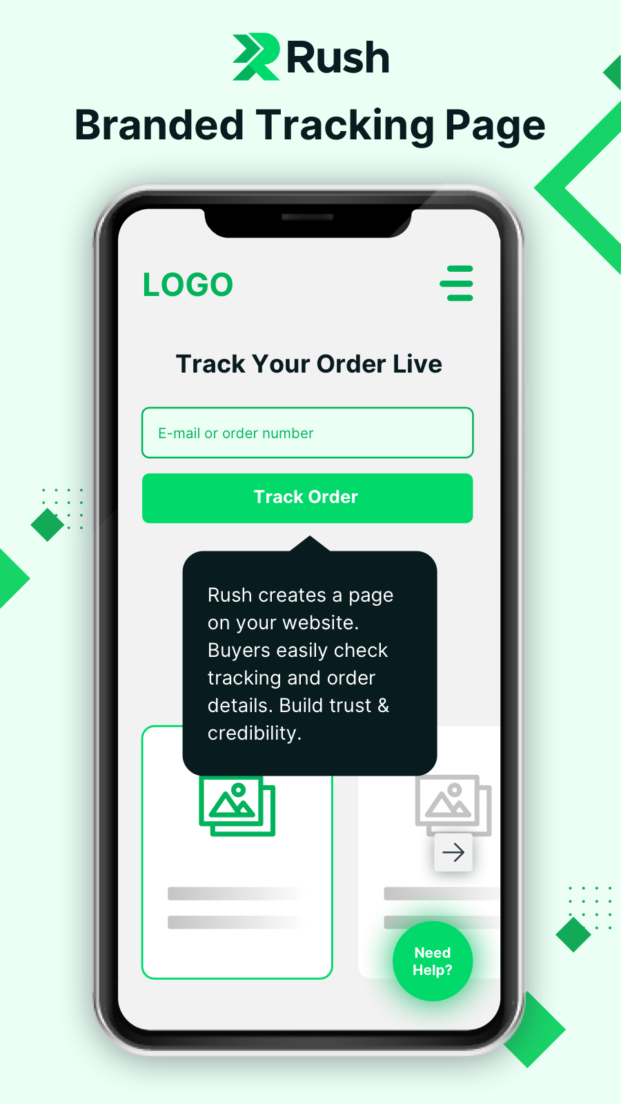 Custom Branded Tracking Page