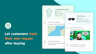 Let customers track their own impact after buying