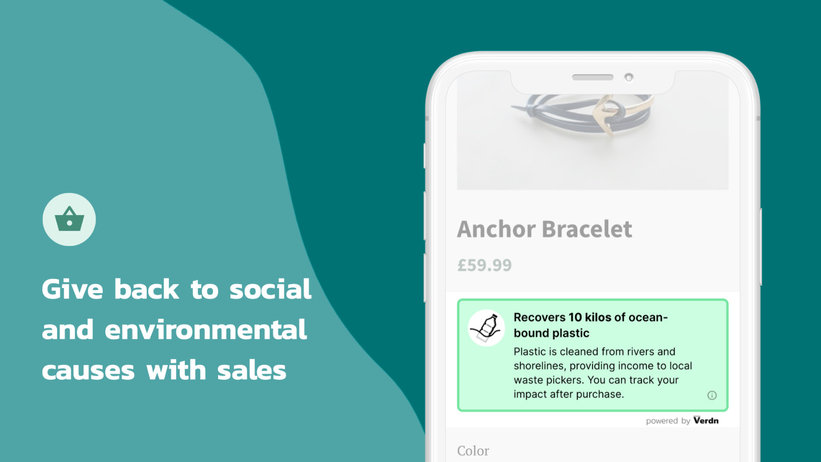 Give back to social and environmental causes with sales