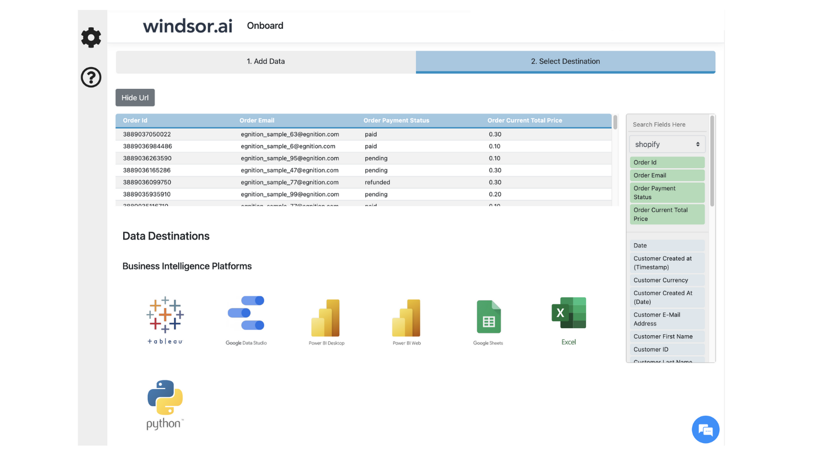 Visualize your Shopify data in your BI tool