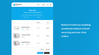 Secure and friction free unified/mixed cart checkout