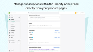 Managing Subscription Plans from Shopify Admin