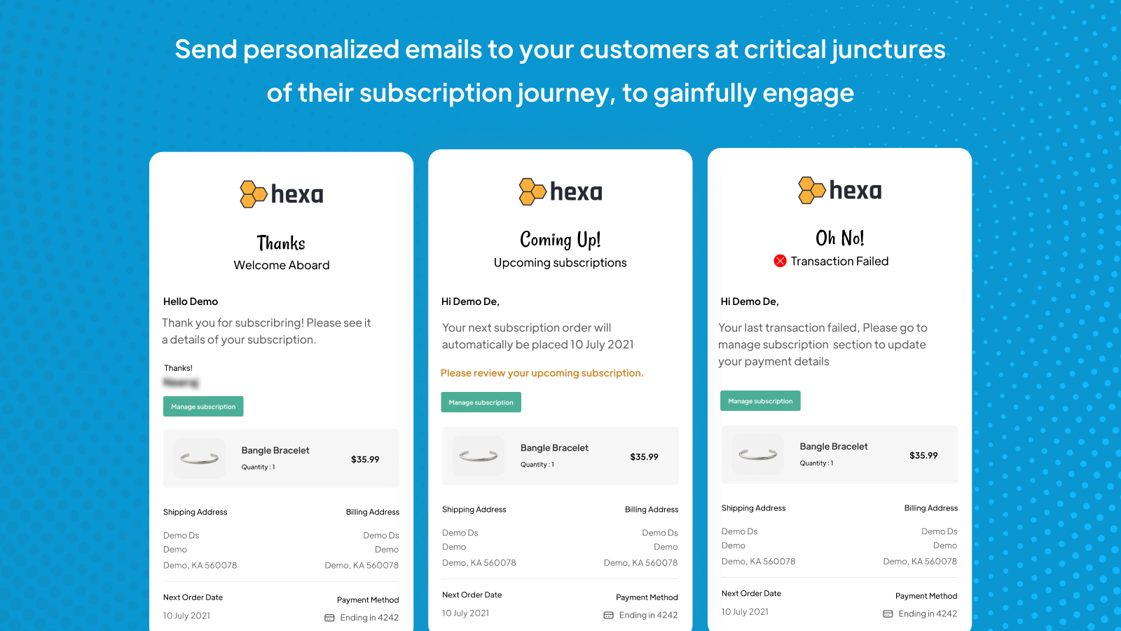 Personalized customer emails to smartly engage