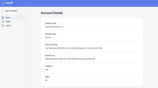 Review account details