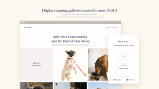 Create stunning galleries created by users (UGC)