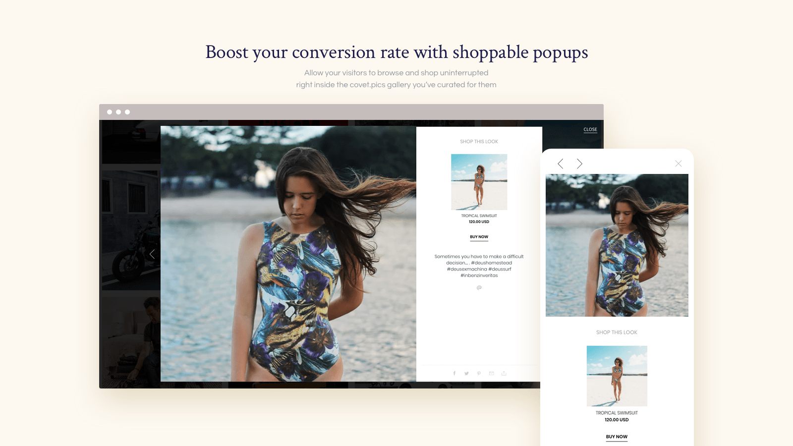 Boost your conversion rate with shoppable popups