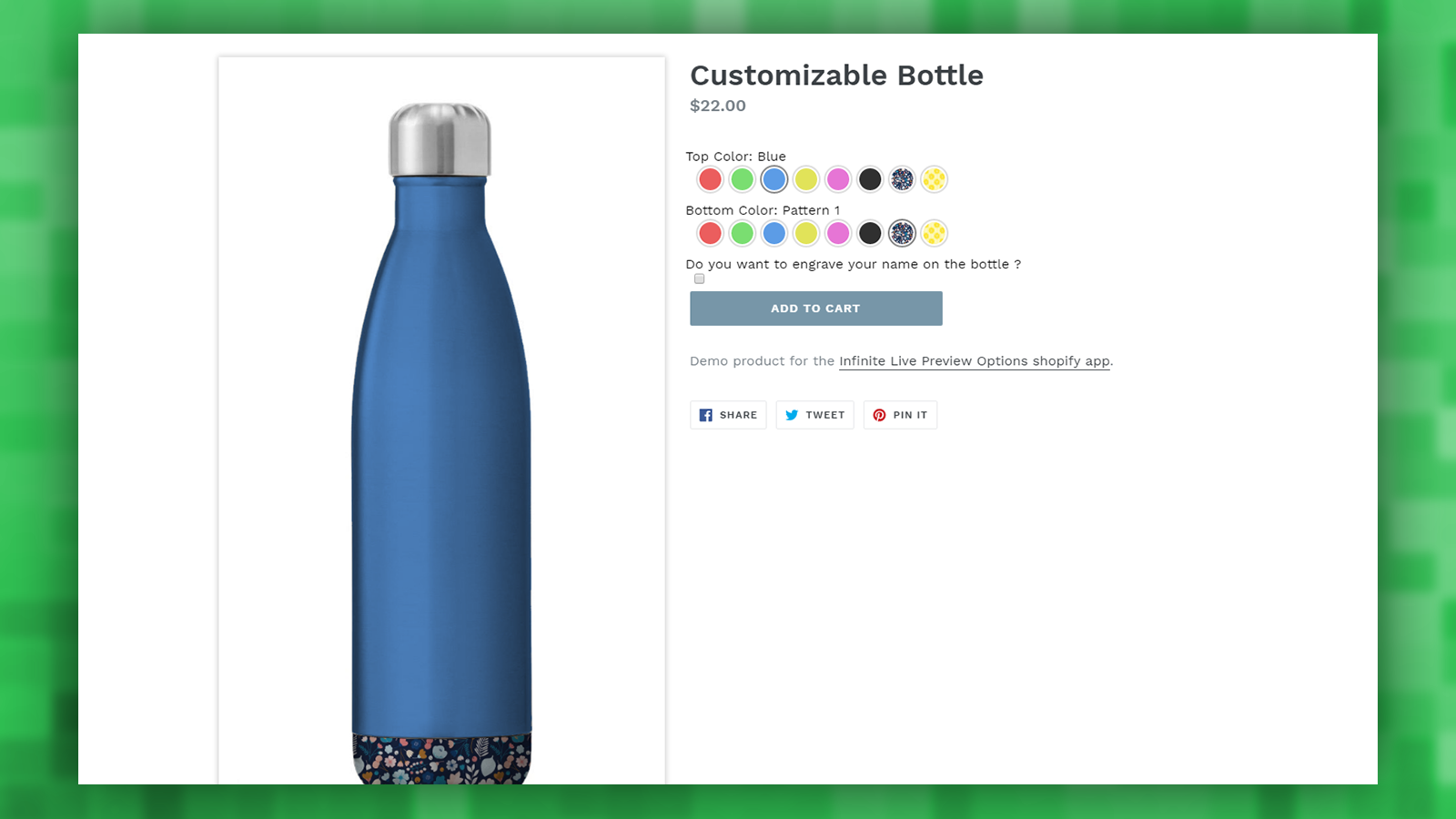 Store: Bottle demo product