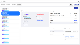 Import your orders into Logistia and assign a delivery date