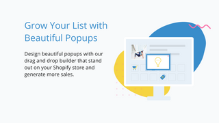 beautiful email popup designer and builder to grow email list