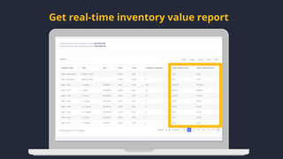 real-time inventory value report