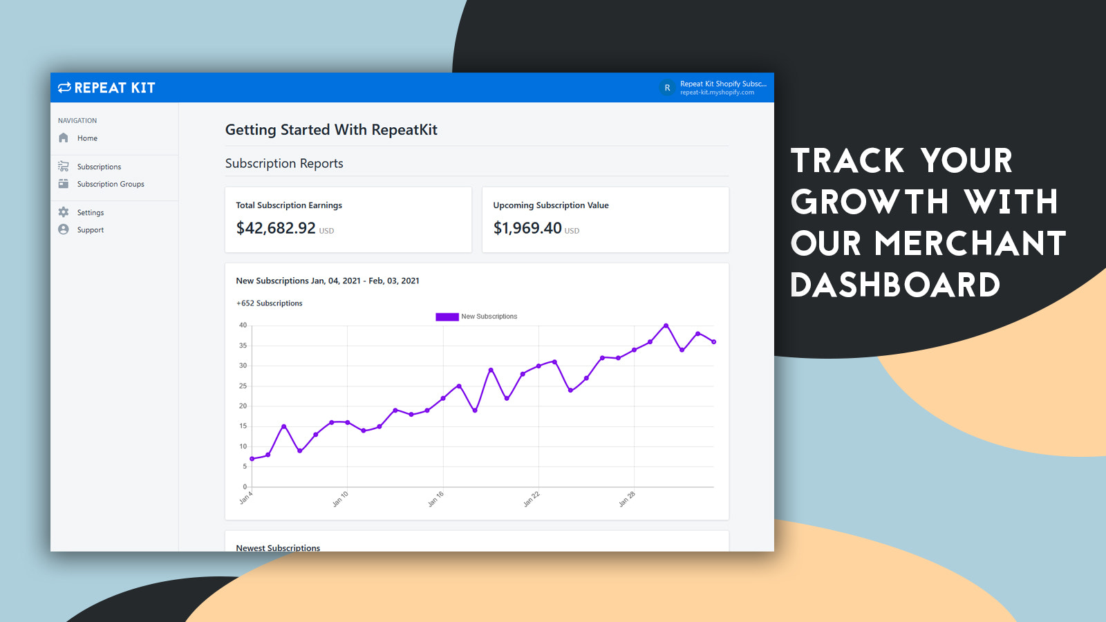 recurring payments subscriptions shopify app ongoing subscriptio