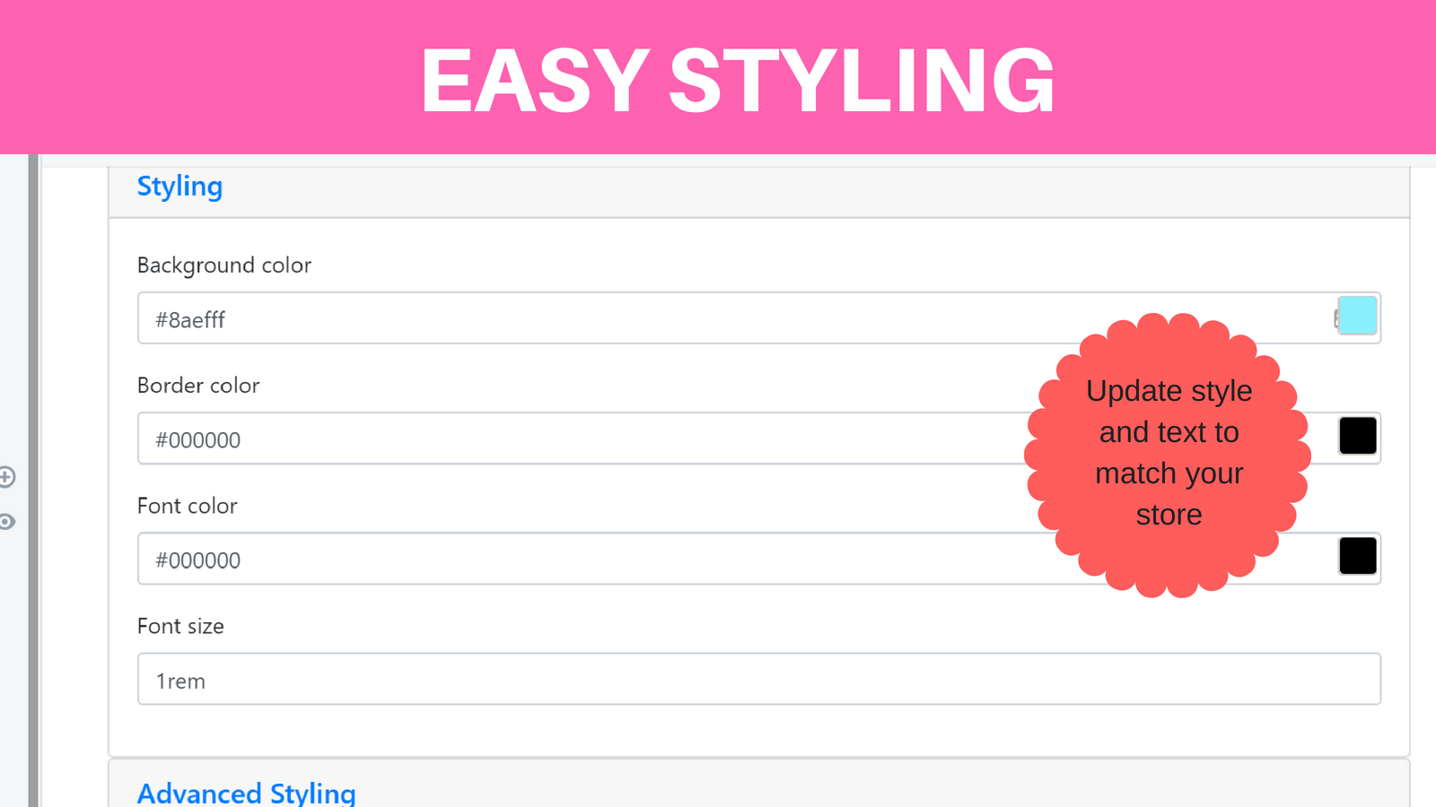 Easy Styling