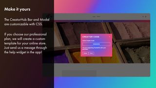 No limits in customization with CSS