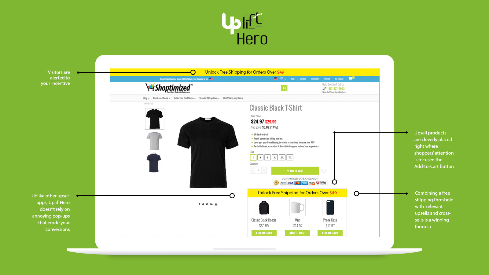 Pop-Up-Free Upsell App Shopify