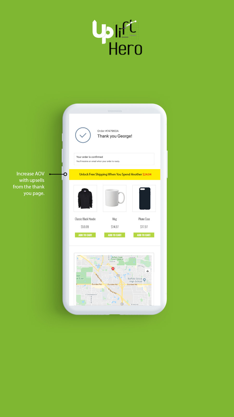 Post-Purchase Thank you page upsell app Shopify