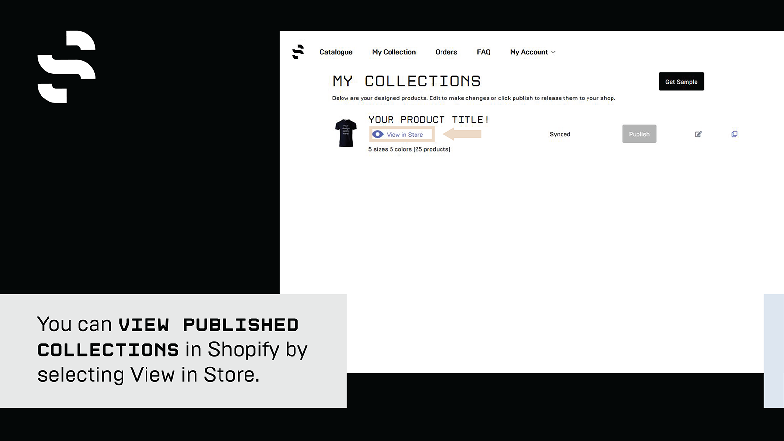 View published collections in Shopify