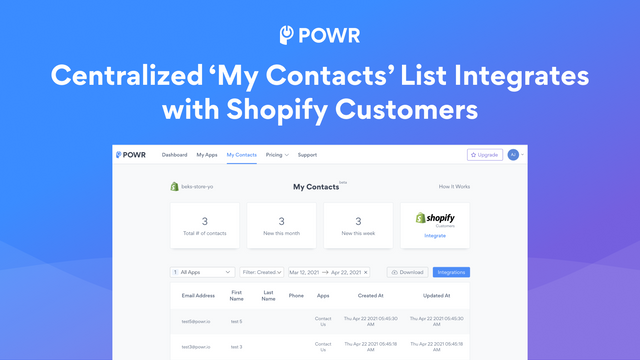 Sync My Contacts with Shopify Customers