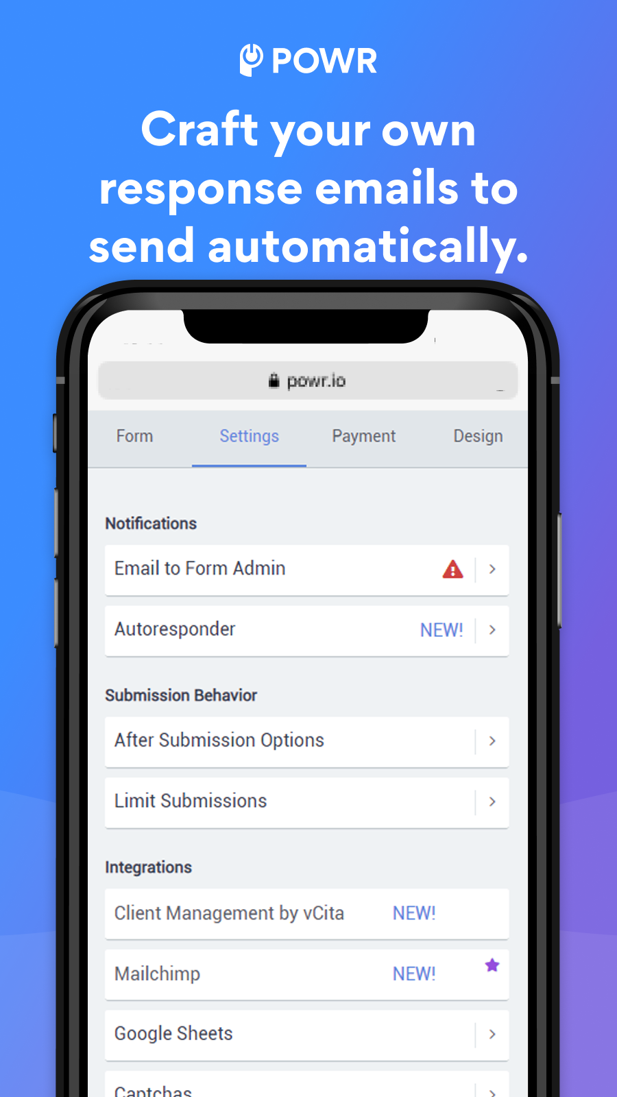Craft your own email autoresponders.