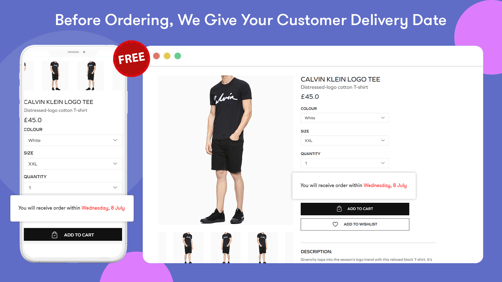 Before ordering, We give your customer delivery date