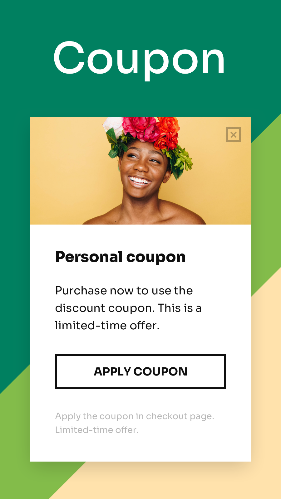 Promote coupons on mobile