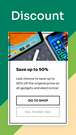 Promote discounts on mobile