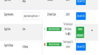 Track your orders directly from thedashboard