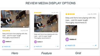 Product reviews HelpfulCrowd image layouts desktop