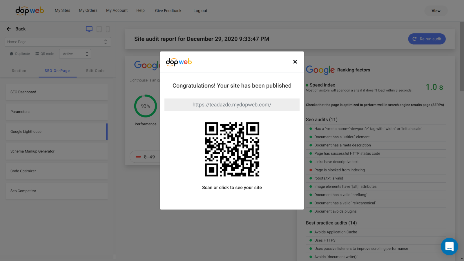 publish your amp valid pages to your store