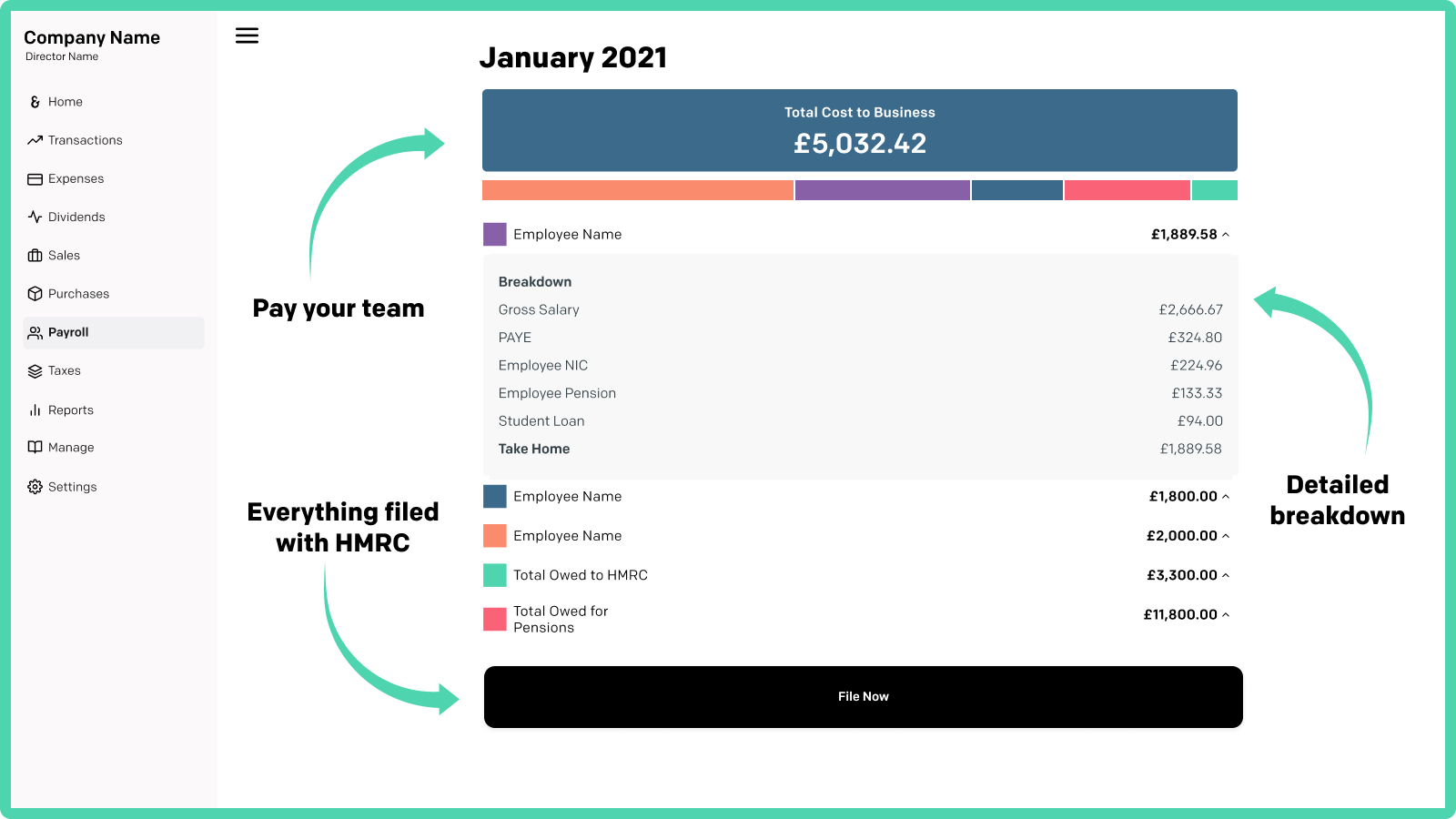 Run payroll for your team