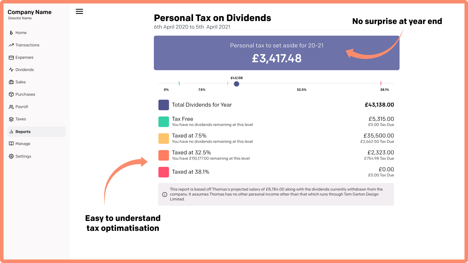 Know how much tax you need to set aside at all times