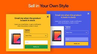 shopify notify when back in stock pop up