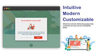 Email popup which helps validating customers