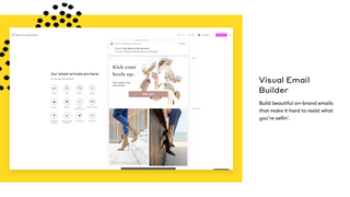 Build beautiful, on-brand emails with our visual email builder