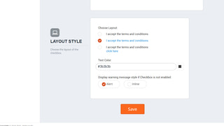 ShopTerms - terms & conditions checkbox view