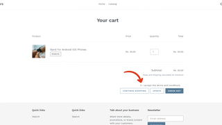 ShopTerms - terms & conditions checkbox general settings