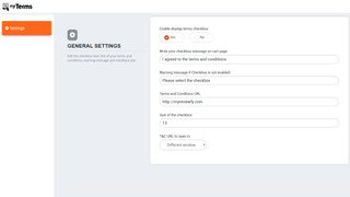ShopTerms - terms & conditions checkbox layout settings