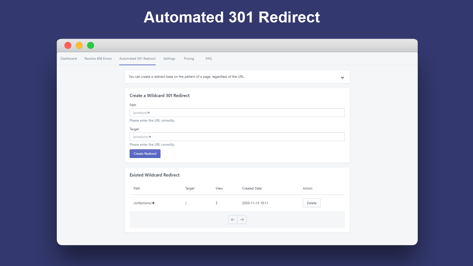 Automated 301 Redirect_Broken Link Manager